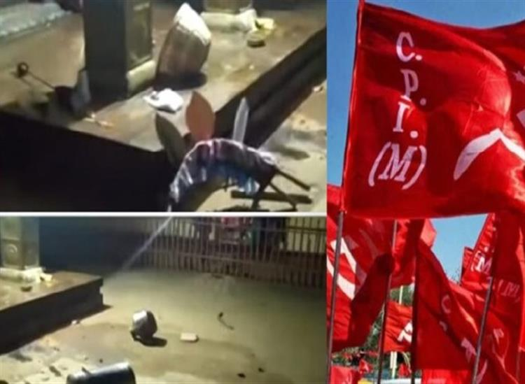 The Independence:11-cpm-workers-arrested-in-palakkad-subramanya-temple-vandalised-attack-bjp-rss-offices-kerala