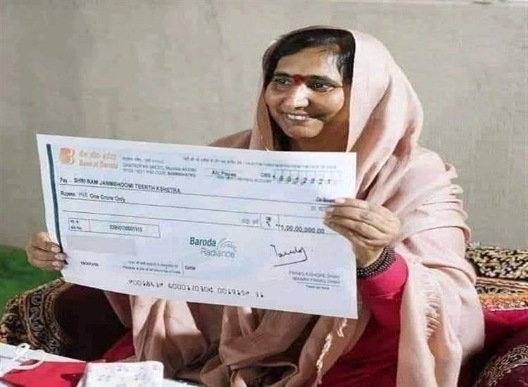 The Independence:Sadhvi-Ritambhra-gives-Rs-One-crore-for-construction-of-Ram-Temple