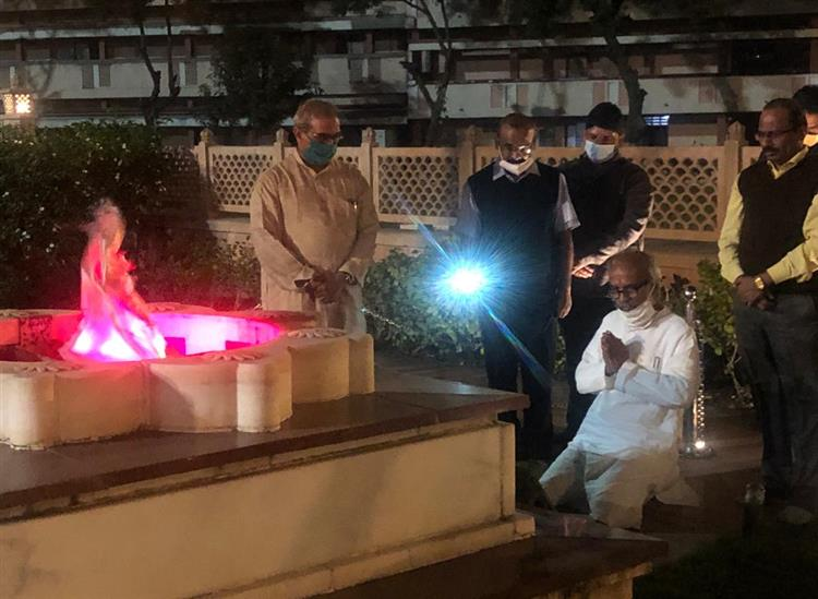 The Independence:Union-Minister-Pratap-Sarangi-visits-RSS-founders-ancestral-house