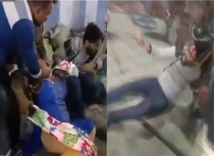 The Independence:bjp-workers-injured-after-lathi-charged-by-police-while-protesting-in-khardah-west-bengal